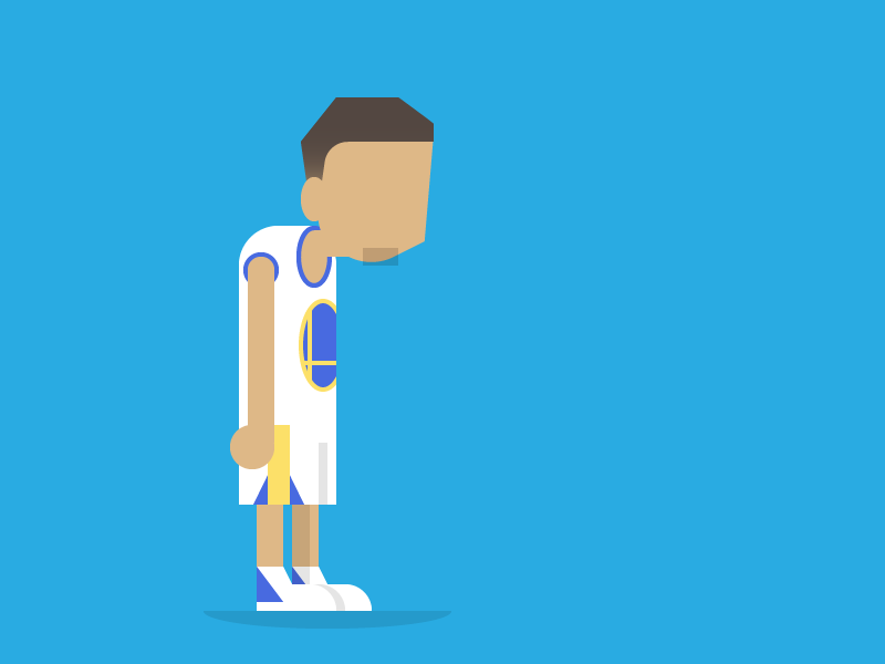 Steph :( nba warriors state golden curry steph flat illustration editorial daily