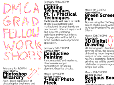DMCA Graduate Fellow Workshops
