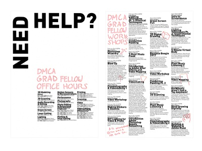 DMCA Graduate Fellow Posters typography design graphic design lettering pink yellow overprint simple minimalist poster