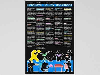 Workshops Poster minimal clean monowidth monospace typography grid colorful black poster design illustration