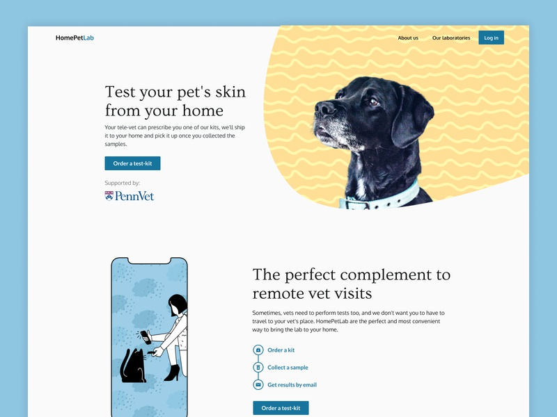 Test your pet's skin digital dog