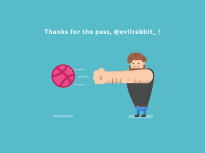 Hello Dribbble! first shot first dribbble evilrabbit-