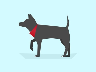 Berta can mascot minimalist dog