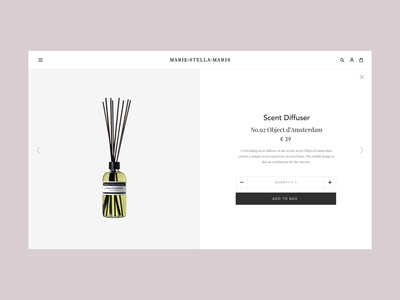 Marie Stella Maris – Product Detail Page Concept webdesign web website ux ui shop motion interface interaction concept animation e-commerce