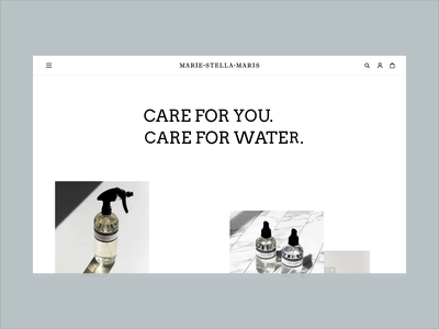 Marie Stella Maris Parallax Concept fashion clean luxery roomspray makeup website parallax scroll smooth interface animation fragrance amsterdam ui ux interaction webdesign