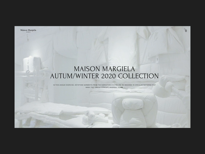 Maison Margiela Interactive Menu Hover Concept maison margiela ux design web design typography ui ux web ecommerce webshop fashion hover animation interaction webdesign