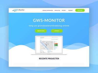 Webdesign   GWS-Monitor Landing Page