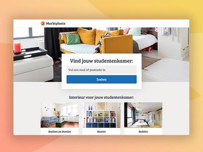 Webdesign   Marktplaats 'Op eigen benen' landing page