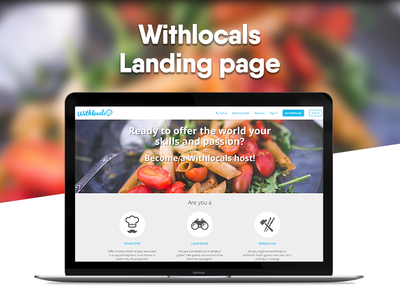 Withlocals Landing Page
