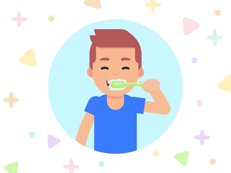 Dental Care Illustration fun illustrator people doodle character design freelance color design character vector dental care illustration