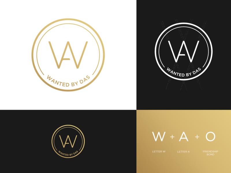 Wanted By Das - Logo Design friends fashion denisestienen golden logo grid logo design identity design icon design icon identity gradient logo branding