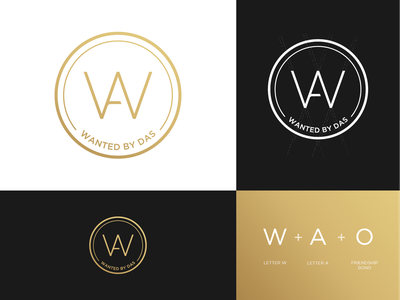 Wanted By Das - Logo Design friends fashion denisestienen golden logo grid logo design identity design icon design icon identity gradient logo branding