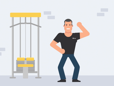 DEMEY88 Explainer Video gym office vector fitness app motion graphics science fitness training research character character design illustration gif animation