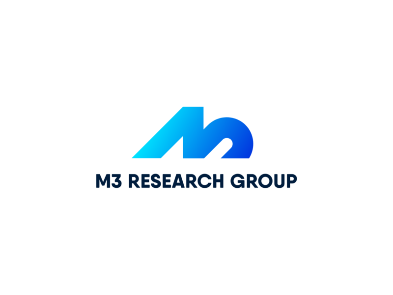 Logo M3 Research Group symbol icon creative age related nutrition clinical nutrition sports nutrition nutrition health muscle maastricht metabolism reserach gradient logo design vector typography identity branding logo