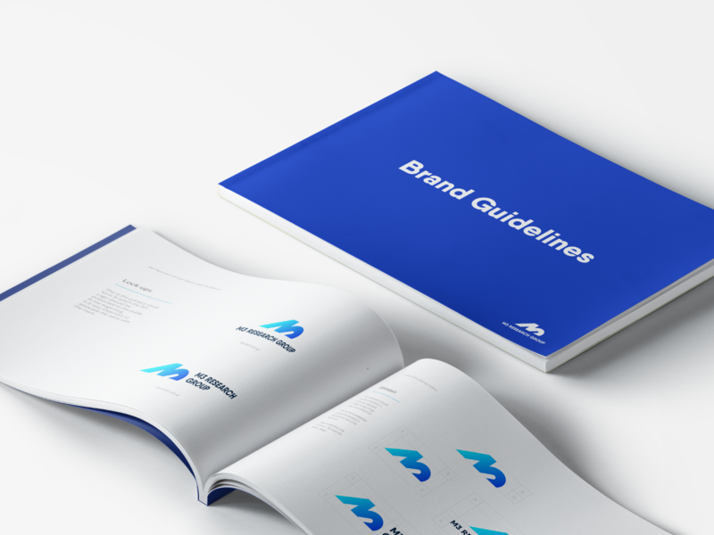 M3 Research Group – Brandbook icon maastricht muscle metabolism lab reserach m3 gradient vector brand identity strategy branding logodesign monogram grid logo grid logo guidelines brandbook