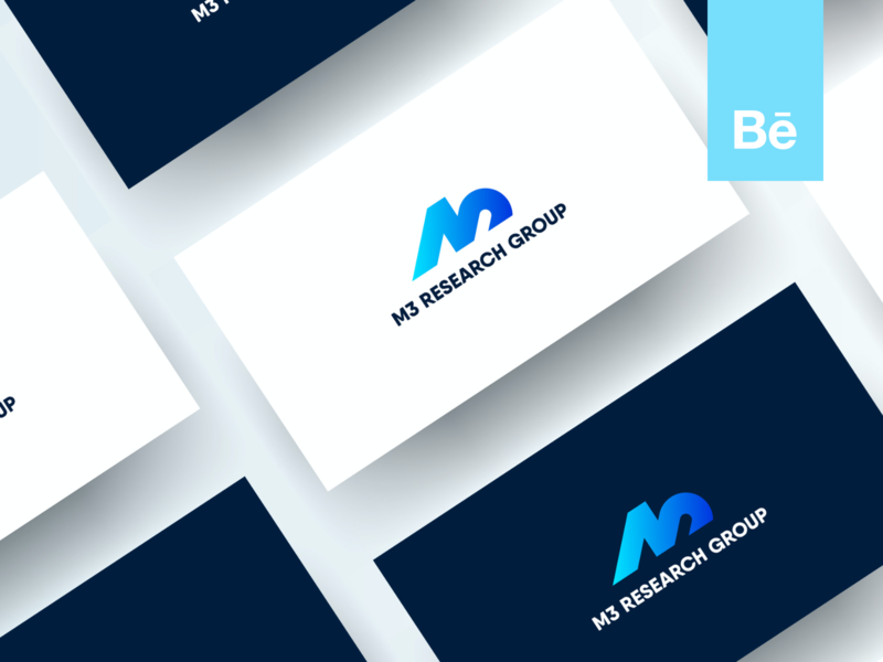 M3 Research Group – Behance Case Study case study research lab health monogram logo design branding case behance project behance