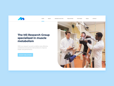M3 Research Group Homepage Animation maarstricht researchlab fitness health webdesign website aftereffects web video ux ui typography promo motion interface design