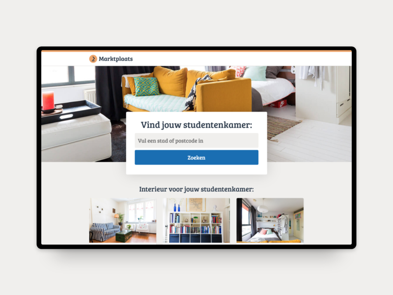Landing Page Design Marktplaats web interface website product landing design netherlands advertising marketplace ux ui behance mobile design webdesign