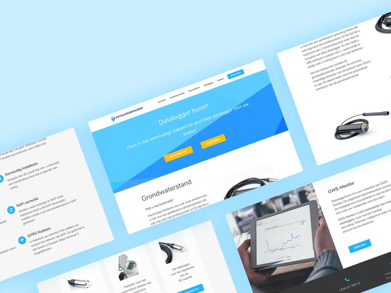 Web Design - Dataloggerhuren.nl mockup template behance data clean modern ux design ui design ui ux web webdesign