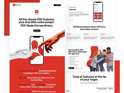 Landing Page of a productivity app website ui productivity app ios app web landing page