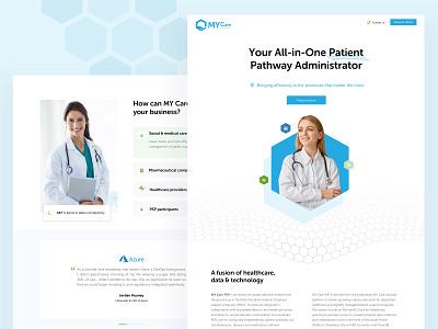 Landing page of a healthcare solution flat web hospital software branding website healthcare landing page