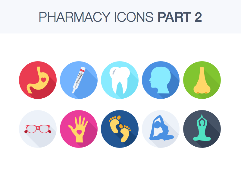Pharmacy Icons Part 2 ui colors sketch icon free resource vector yoga flat download set icons