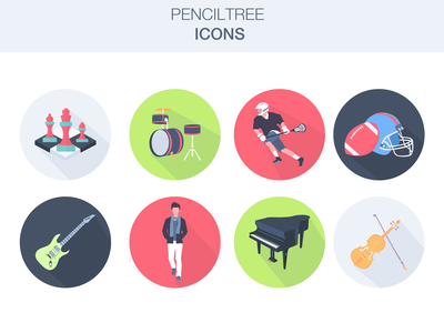 ICONS: Penciltree Project web ux ui project flat vector icons icon