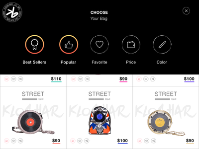 Product page flat interface design ux ui modern web design fashion animation after effects