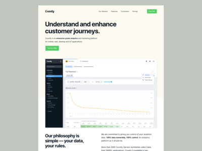 Product Pages, Light or Dark? (Countly)