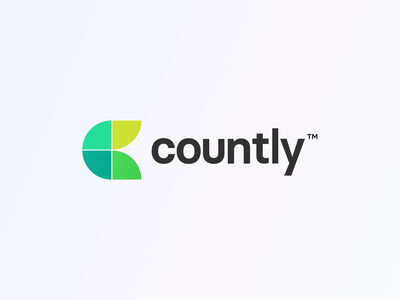Logo Concept - Countly (2021) symbol identity analytics green clean minimal typography grid flat illustration redesign branding logotype logomark brandmark brand mark logo design countly flat logo