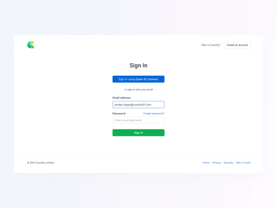 ✊ Sign In Form - New Countly UI cta onboarding login page signup registration account sign in login register sign up form navigation interface layout flat analytics design app ux ui