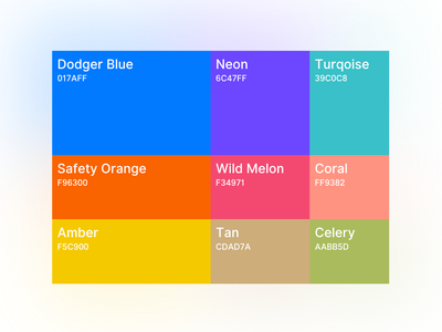 🌈 Color Pallete for Charts - New Countly UI analytics chart ui color system color colors branding design typography styleguide picker color picker swatch branding color palettes color pallet color palette color guide color scheme ux logo
