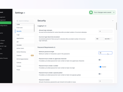 ⚙️ A Small part of Settings - New Countly UI material nav panel message menu form setup settings navigation clean configuration banner popup notification dashboard analytics design app ux ui