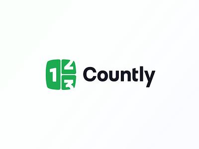 Logo - Countly (2021) minimal graphic design brand identity rebrand redesign logomark illustration flat concept type modern brandmark logotype identity branding logo