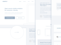 Count.ly landing page Wireframe