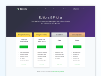 Pricing Page Preview [Count.ly]