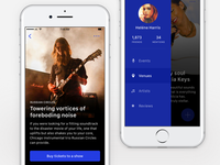 iOS Music & Events app