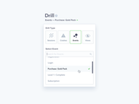 Countly Drill Dropdown Selector