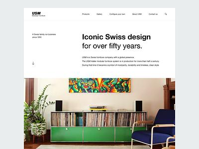 Product Page Concept (USM) whitespace interface minimal clean landing page website navigation exploration golden ratio layout flat design ux ui