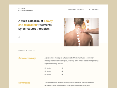 Simple Homepage (MassageTherapy)