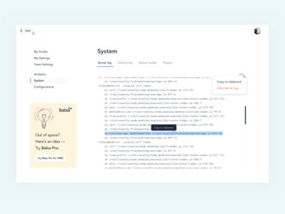 System Settings (Balsa)