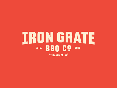 Iron Grate BBQ Co. proposal food wisconsin business rebrand barbeque bbq resturaunt logotype badge branding brand identity