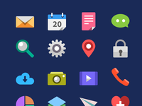 Flat icons full view