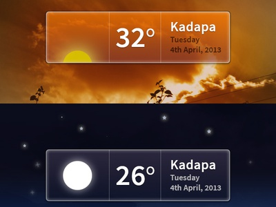 Weather Widget PSD weather widget psd download ui elements psd freebie