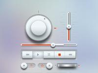 Music ui elements light