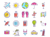 Travel Icons adventure icons vector icons color icons line icons outline icons travel icons vectors icons travel