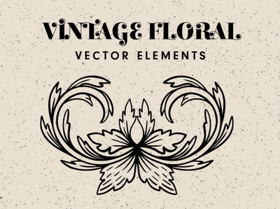 Vintage Floral Decoratives vintage floral vector elements handdrawn vector illustrations handdrawn vector florals retro vectors vector illustrations vector decoratives vector florals vector elements vintage floral elements