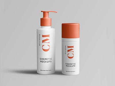 Cosmetic Branding Mockups powder bottle mockup powder bottle mockup