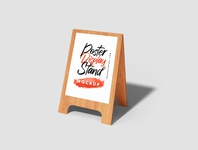 Wooden Poster Display Stands marketing