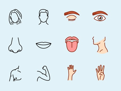 Human Body Parts Icons human icon vectors vector icons icons parts human body